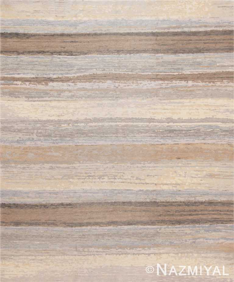 Cream Grey Decorative Modern Boutique Area Rug 60770 by Nazmiyal Antique Rugs