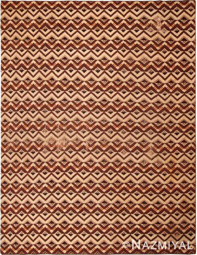 Geometric Vintage French Art Deco Area Rug 70316 by Nazmiyal Antique Rugs