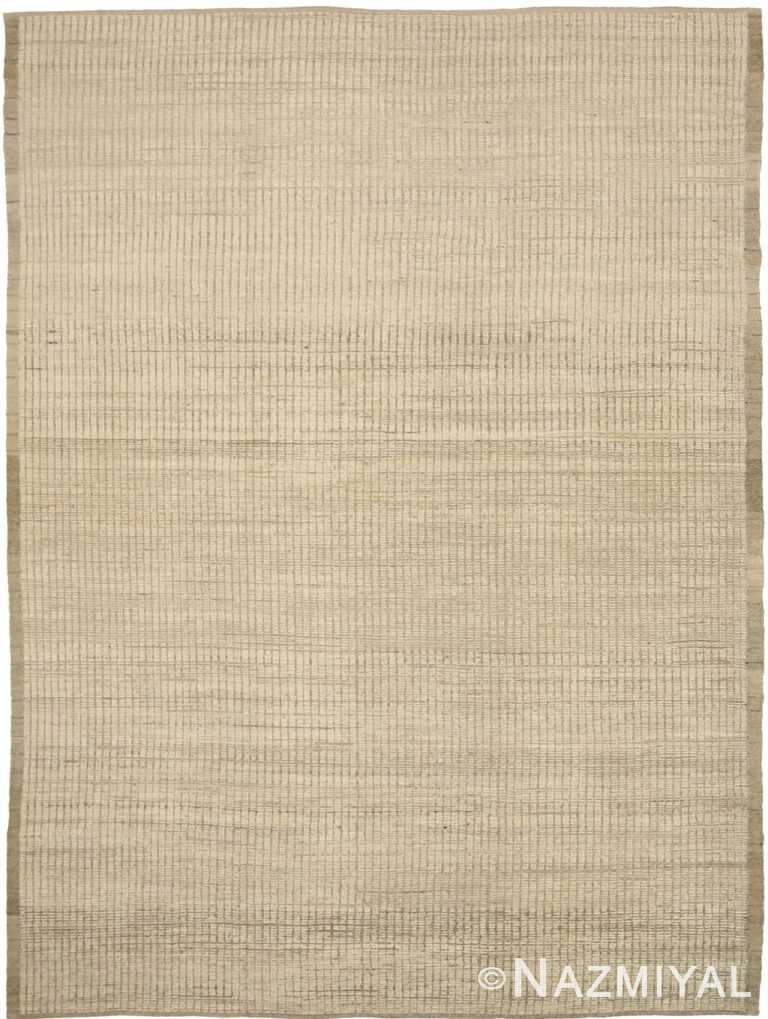 Green Beige Color Textured Modern Distressed Rug 60825 by Nazmiyal Antique Rugs