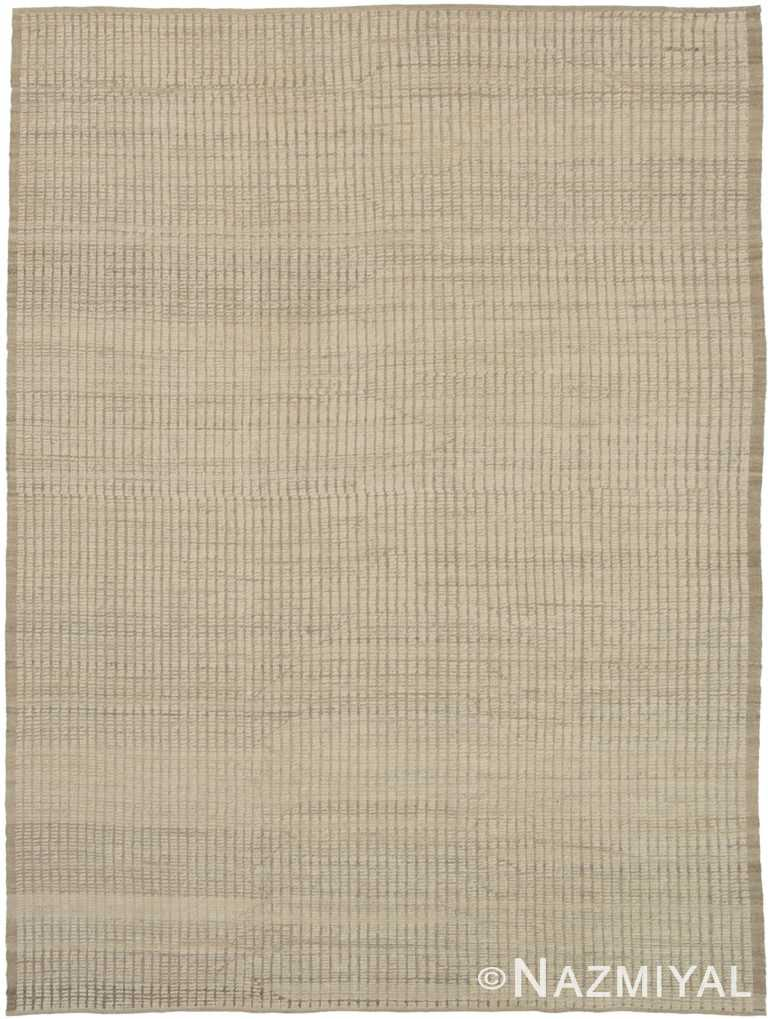 Textured Soft Neutral Color Modern Distressed Area Rug #6083 by Nazmiyal Antique Rugs