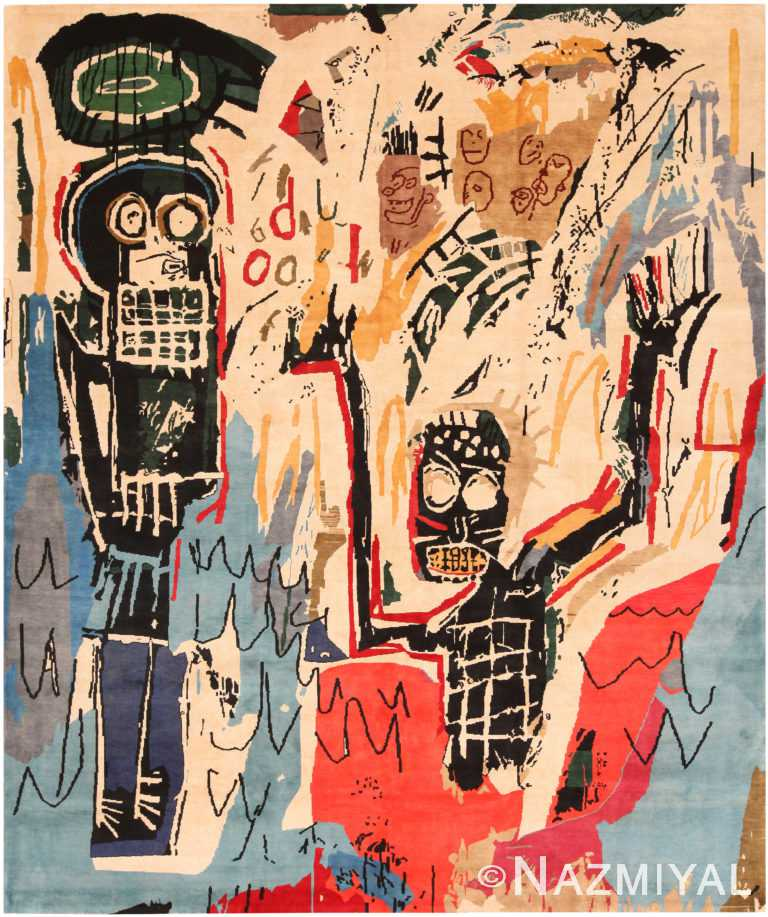 Modern Basquiat Inspired Art Area Rug 70954 by Nazmiyal Antique Rugs