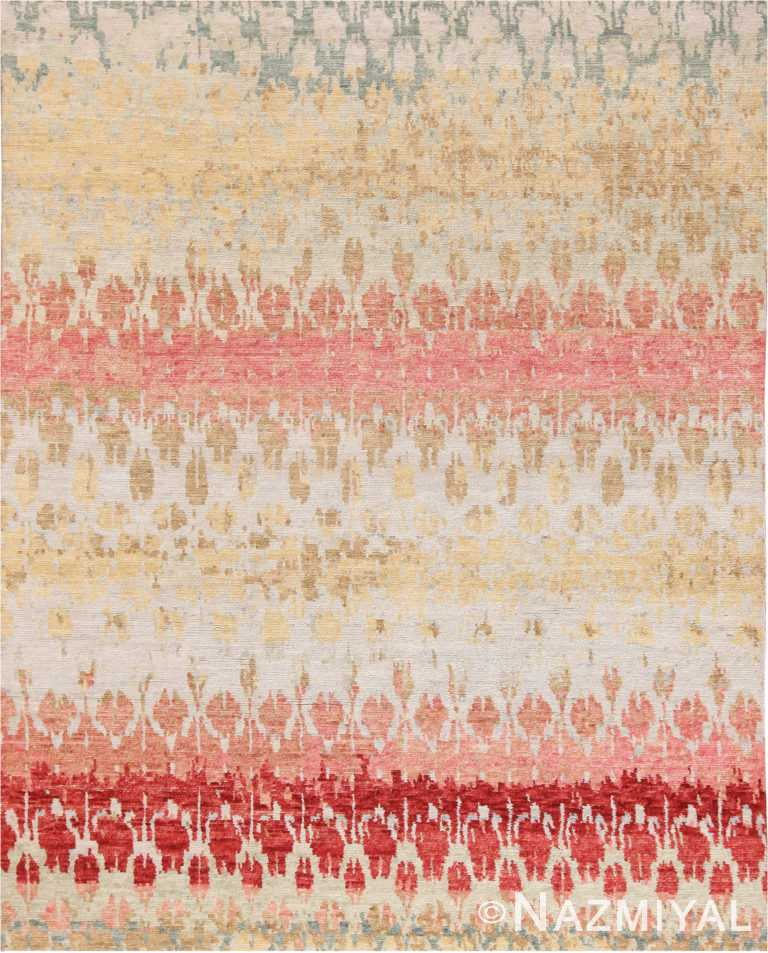 Salmon Color Modern Boutique Area Rug 60772 by Nazmiyal Antique Rugs
