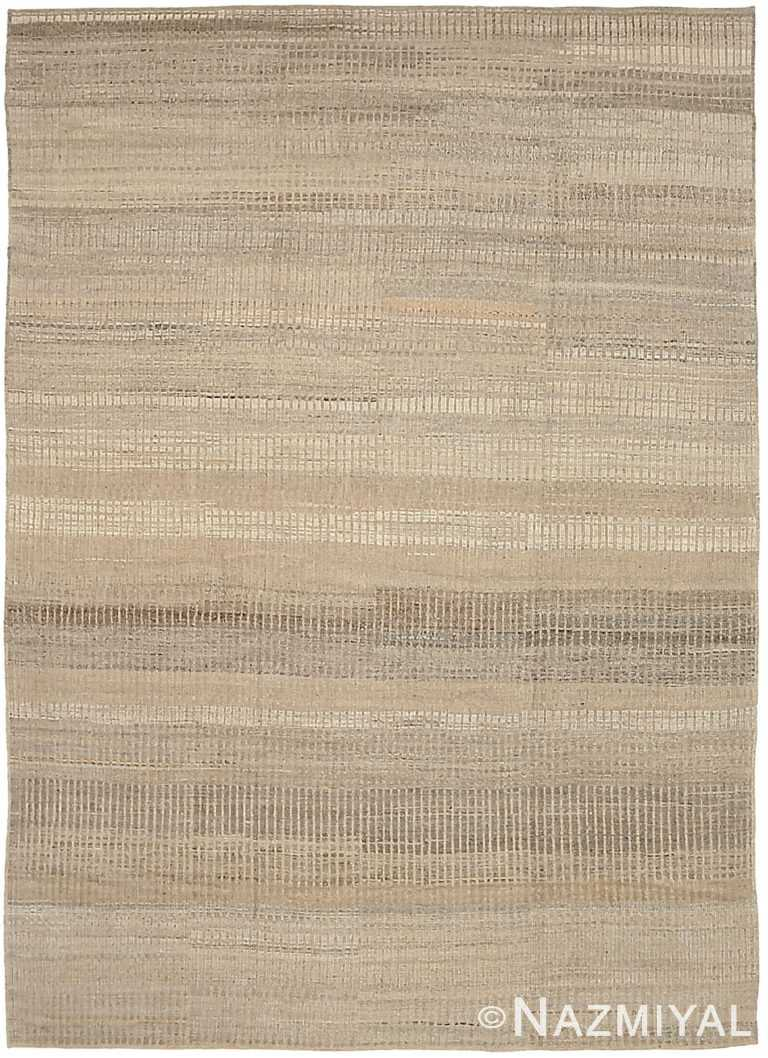 Taupe Textured Modern Distressed Rug 60820 by Nazmiyal Antique Rugs