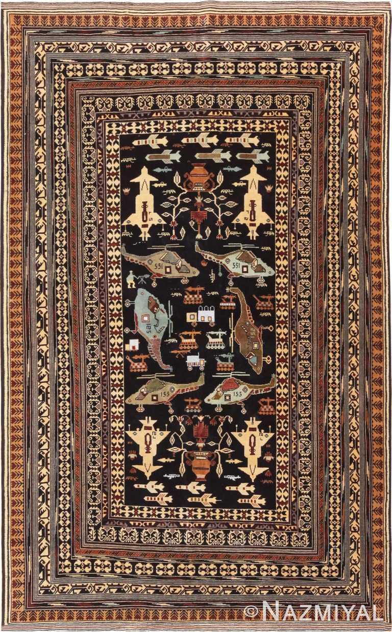 Vintage Afghan War Rug 70966 by Nazmiyal Antique Rugs