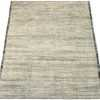 Whole View Of Charcoal Beige Textured Modern Distressed Rug 60818 by Nazmiyal Antique Rugs