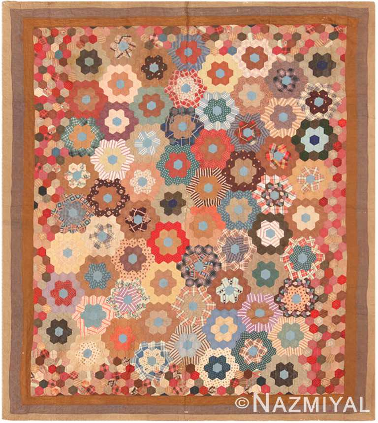 Antique American Quilt Patchwork 71024 by Nazmiyal Antique Rugs
