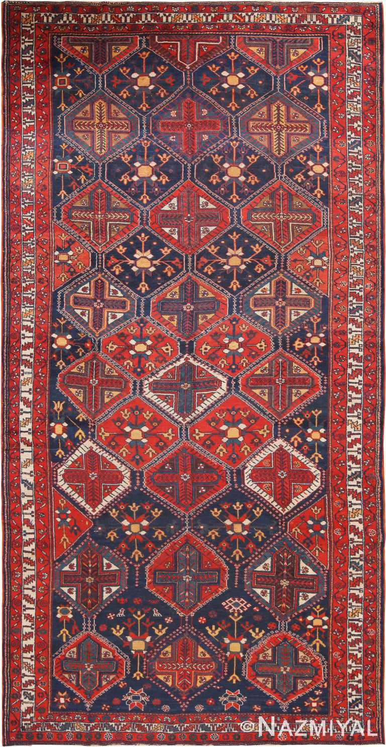 Antique Persian Bakhtiari Area Rug 70754 by Nazmiyal Antique Rugs