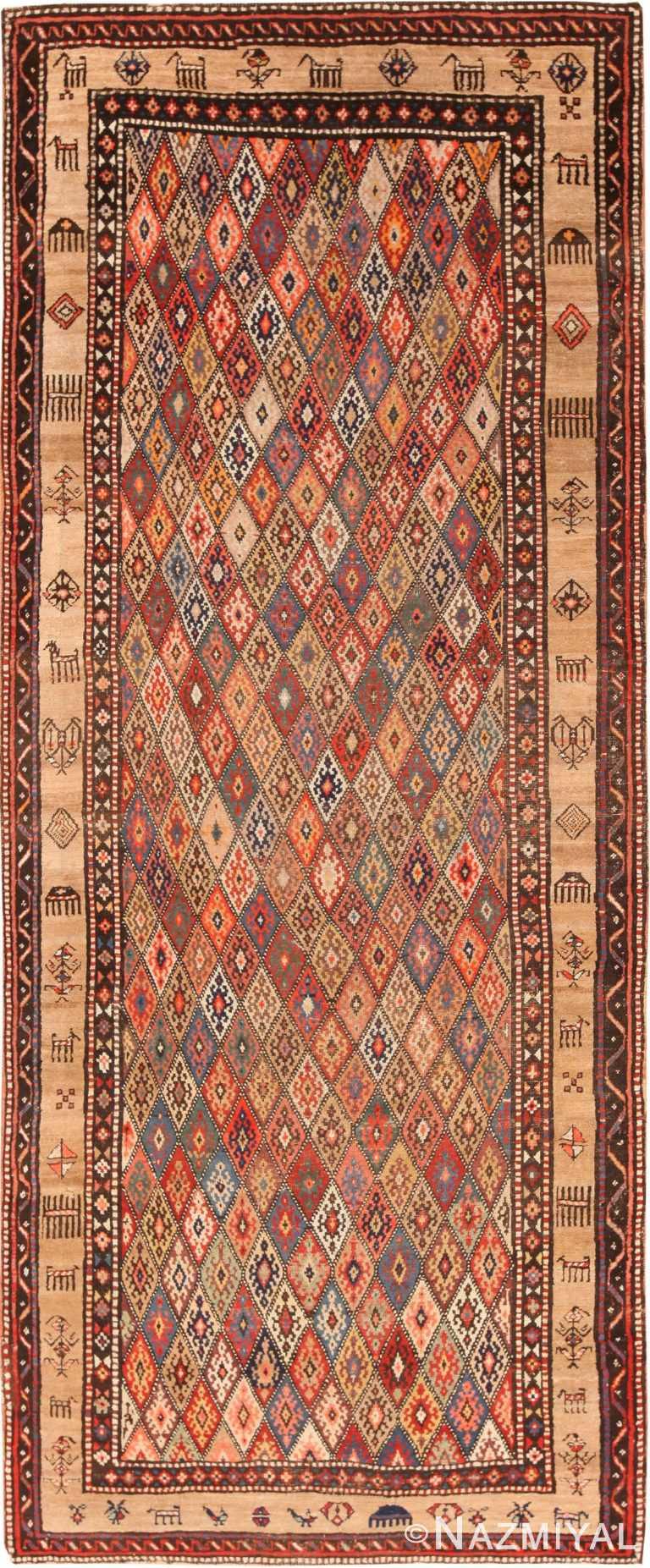 Antique Persian Bakshaish Area Rug 70953 by Nazmiyal Antique Rugs