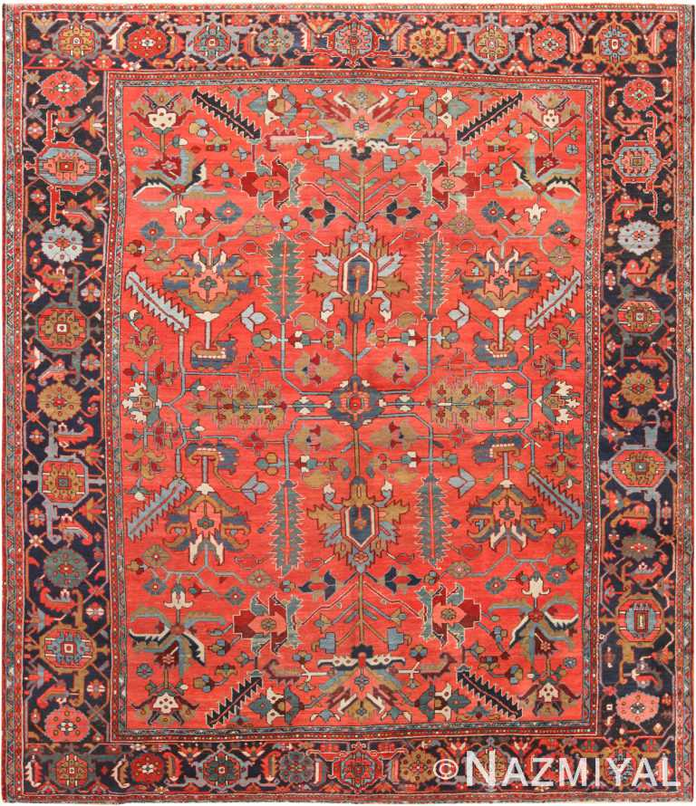 Antique Persian Serapi Area Rug 71009 by Nazmiyal Antique Rugs