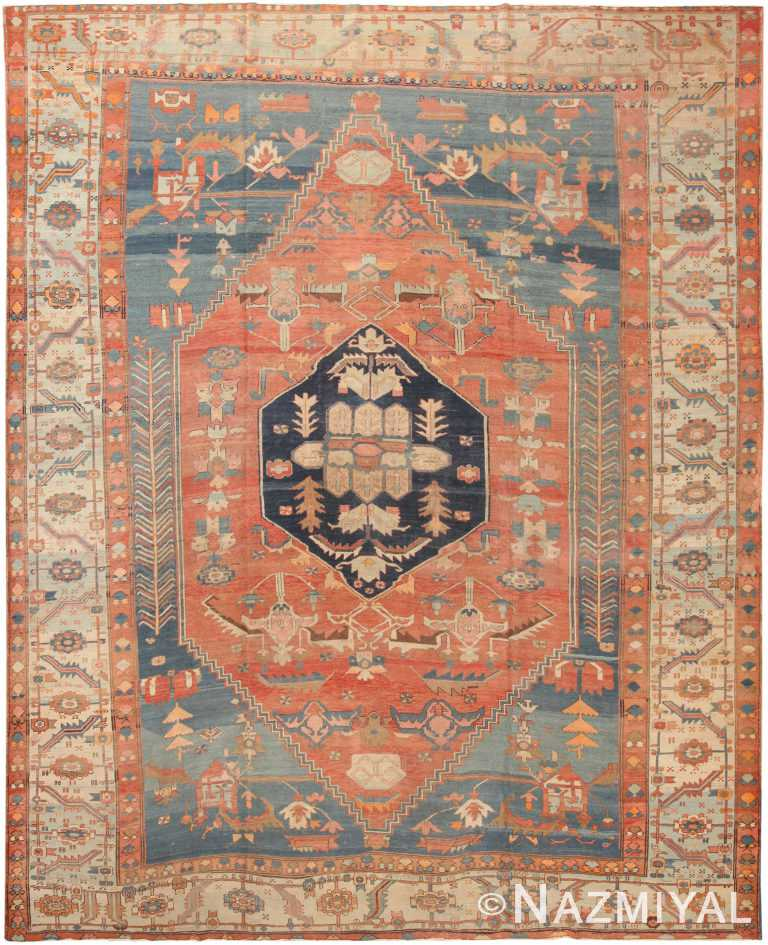 Antique Persian Serapi Bakshaish Rug 71011 by Nazmiyal Antique Rugs