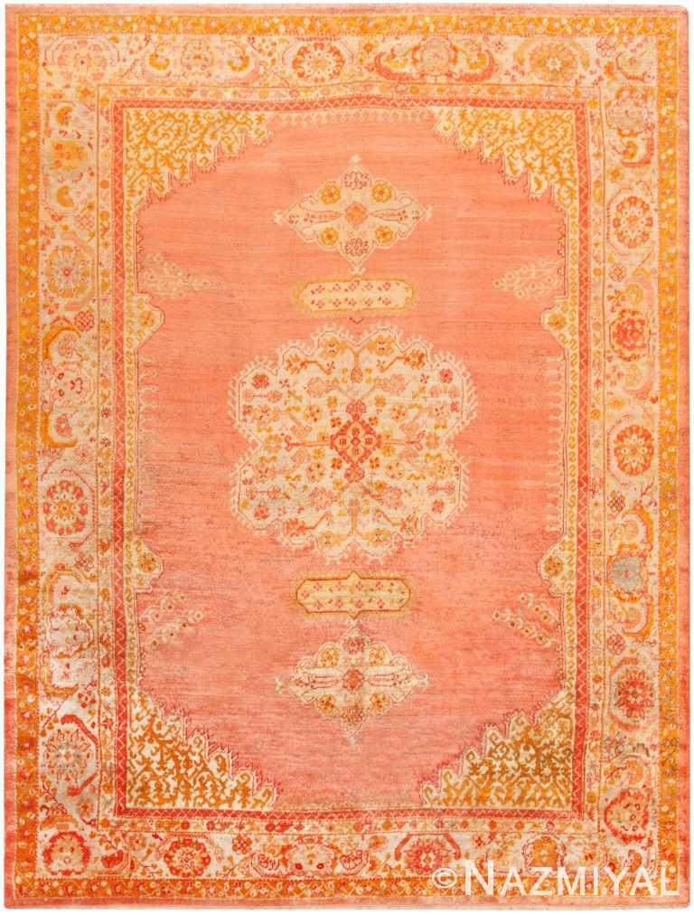 Antique Turkish Oushak Angora Rug 71022 by Nazmiyal Antique Rugs