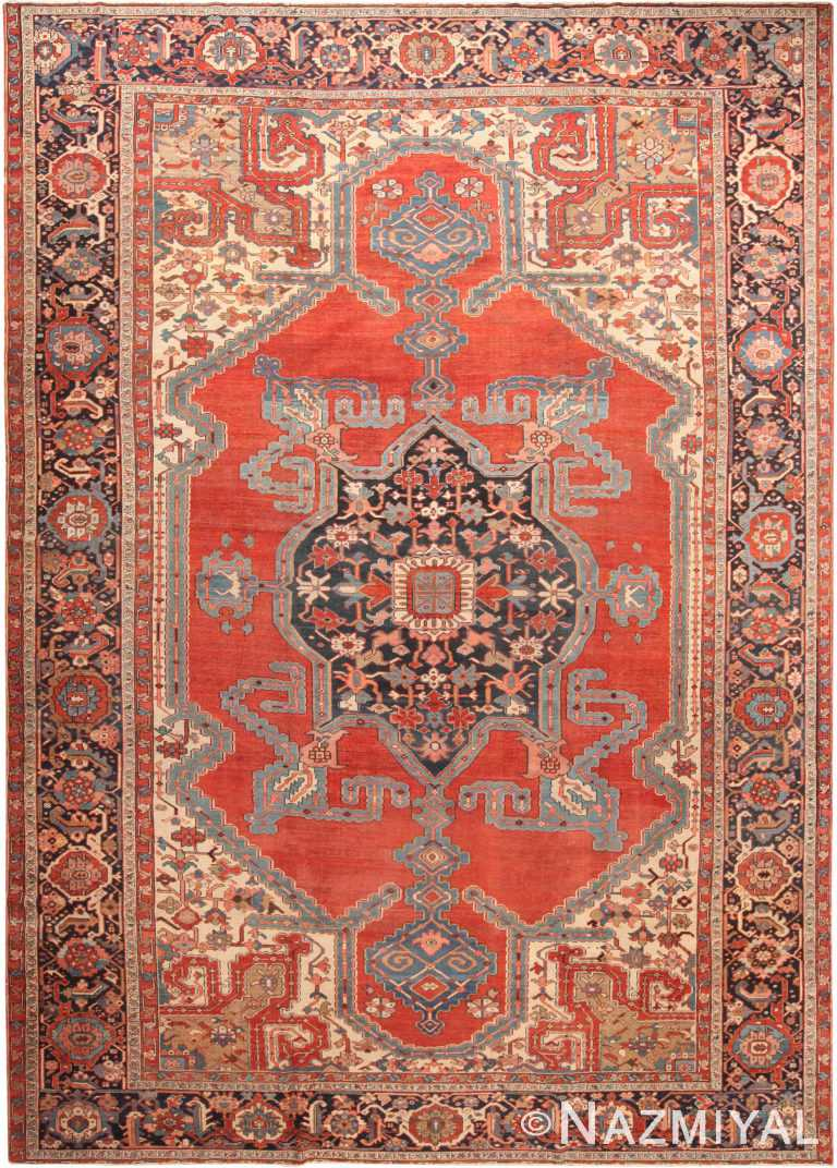 Large Antique Persian Serapi Area Rug 71010 by Nazmiyal Antique Rugs