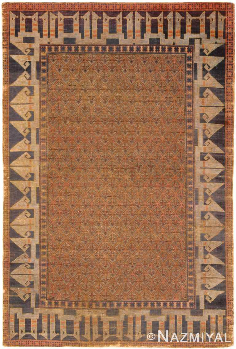 Silk Antique Turkish Seljuk Design Rug 70665 by Nazmiyal Antique Rugs