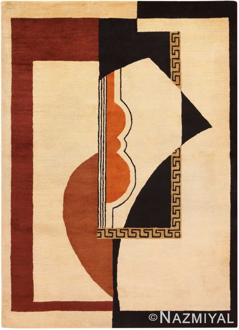 Vintage French Art Deco Area Rug 71007 by Nazmiyal Antique Rugs