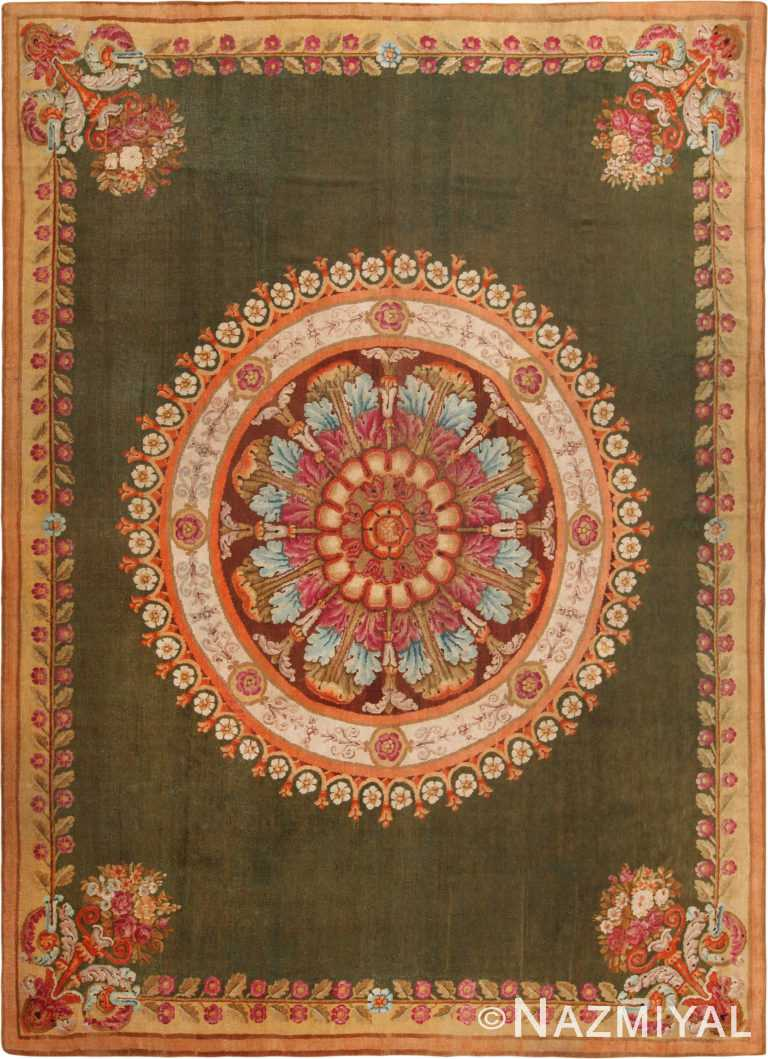 Antique French Charles X Savonnerie Rug 70965 by Nazmiyal Antique Rugs