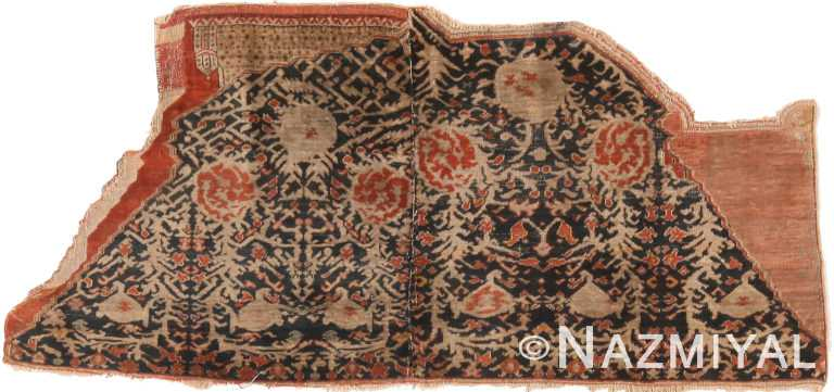 Antique Persian Silk Saddle Rug 48625 by Nazmiyal Antique Rugs
