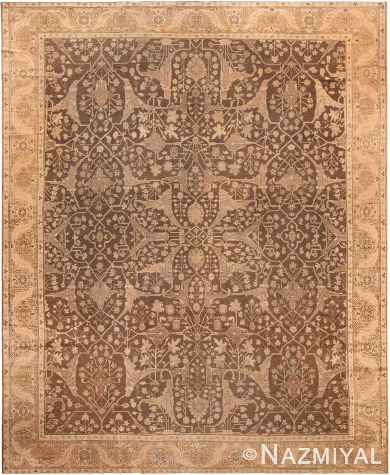 Brown Antique Persian Sultanabad Area Rug 71052 by Nazmiyal Antique Rugs