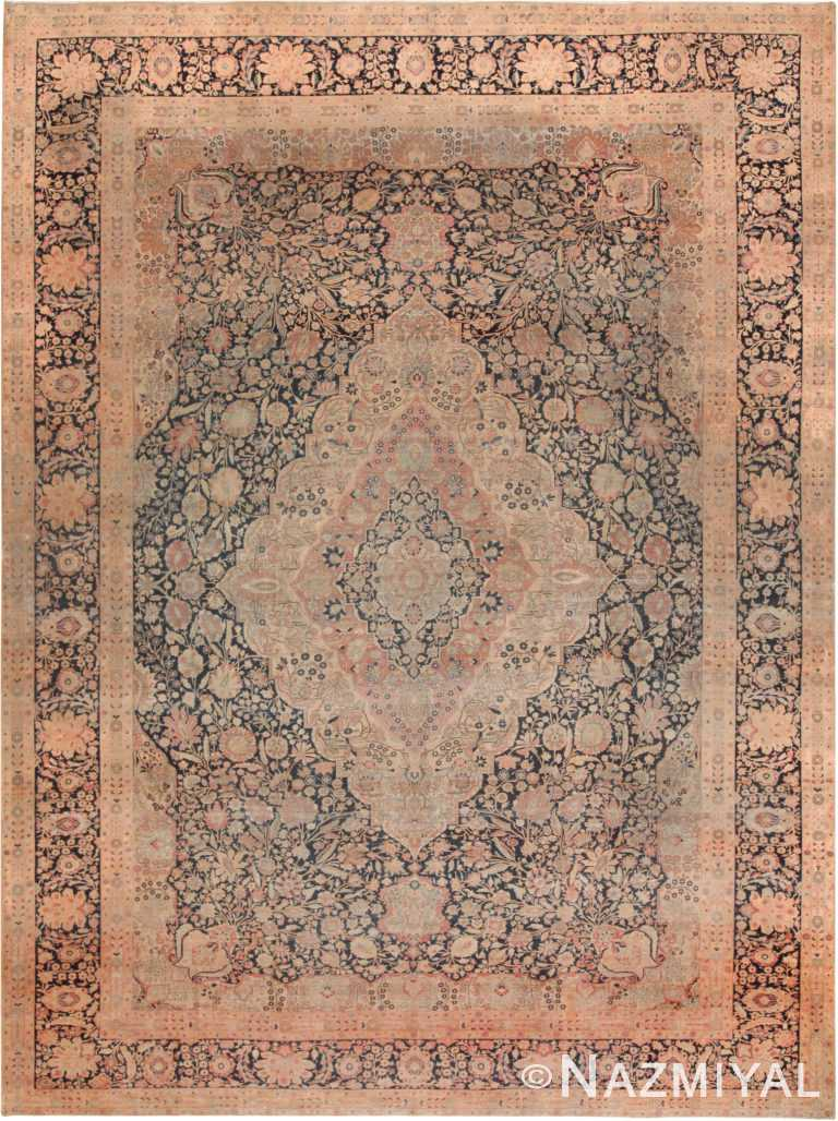 Large Antique Persian Mohtasham Kashan Rug 71049 by Nazmiyal Antique Rugs