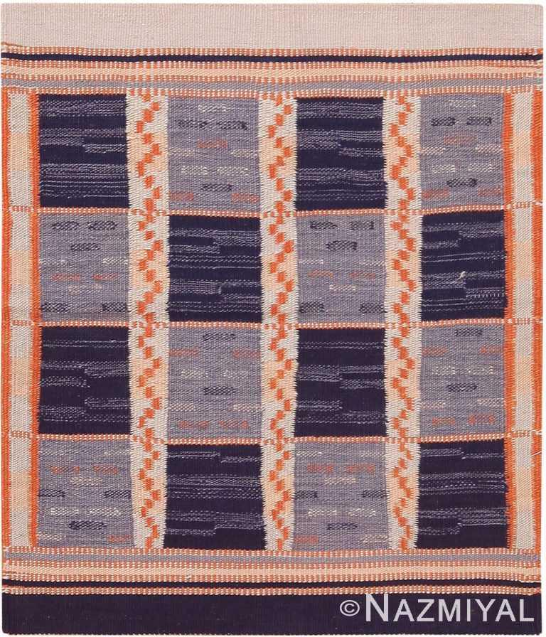 Modern Custom Swedish Kilim Rug Sample 60852 by Nazmiyal Antique Rugs