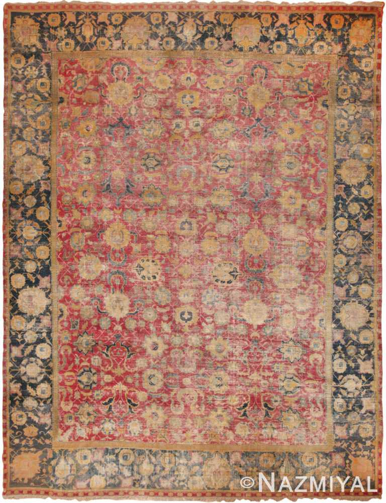 Rare 17th Century Large Antique Persian Isfahan Rug 70804 by Nazmiyal Antique Rugs