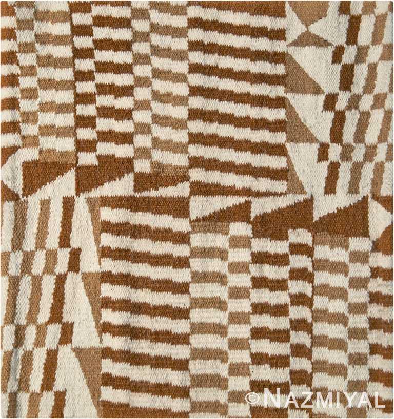 Square Andean Checkers Design Kilim Rug By Genaro Rivas 60867 by Nazmiyal Antique Rugs