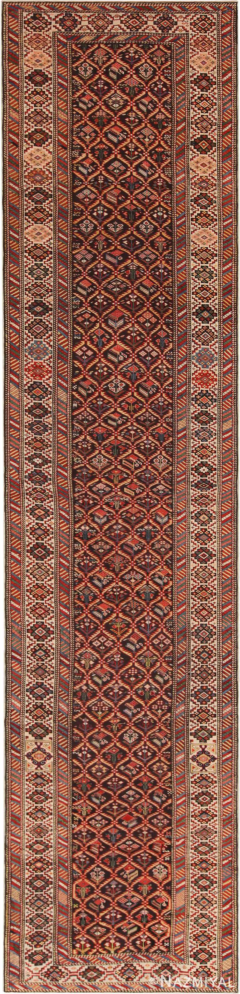 Tribal Antique Caucasian Shirvan Runner Rug 71046 by Nazmiyal Antique Rugs