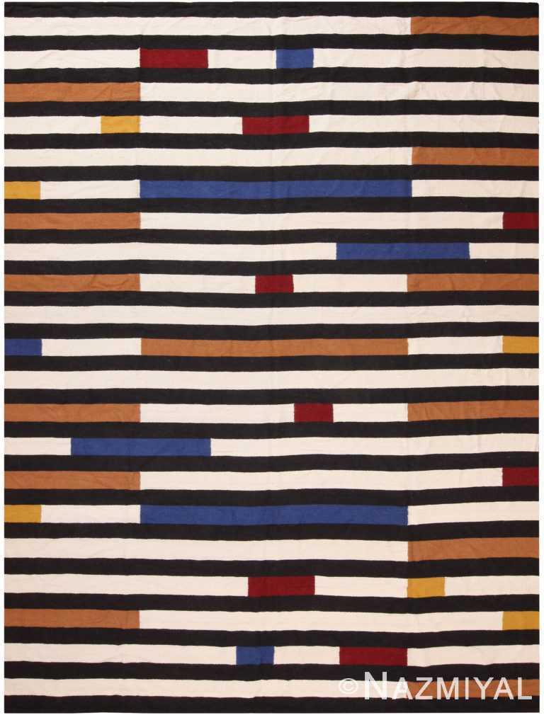 Yawirka Design Kilim Rug By Genaro Rivas 60840 by Nazmiyal Antique Rugs