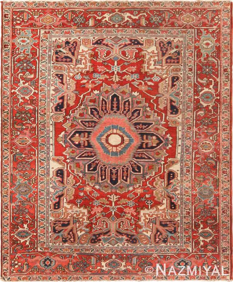 Antique Persian Heriz Rug 71121 by Nazmiyal Antique Rugs