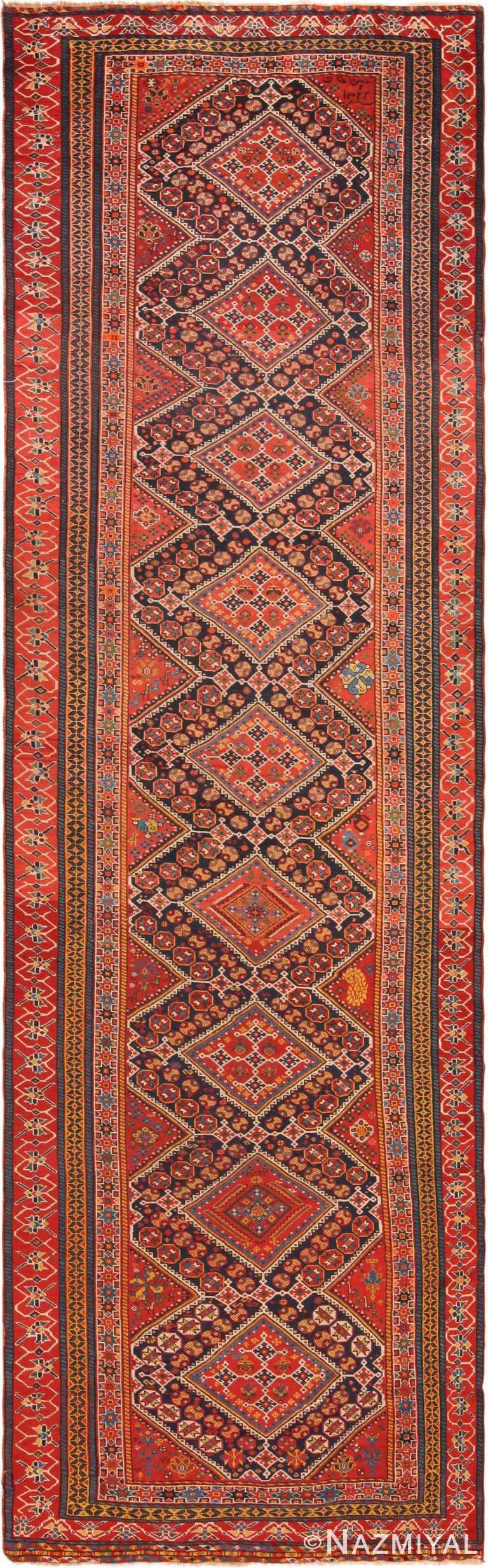 Antique Persian Qashqai Runner Rug 71098 by Nazmiyal Antique Rugs