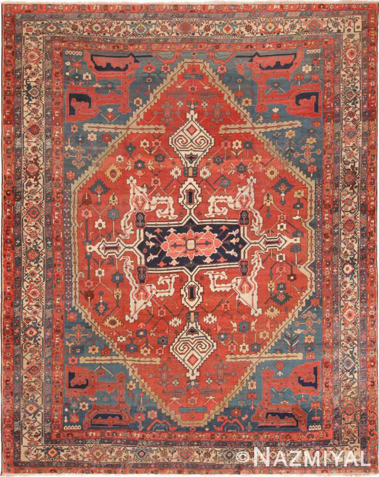 Antique Persian Serapi Area Rug 71126 by Nazmiyal Antique Rugs