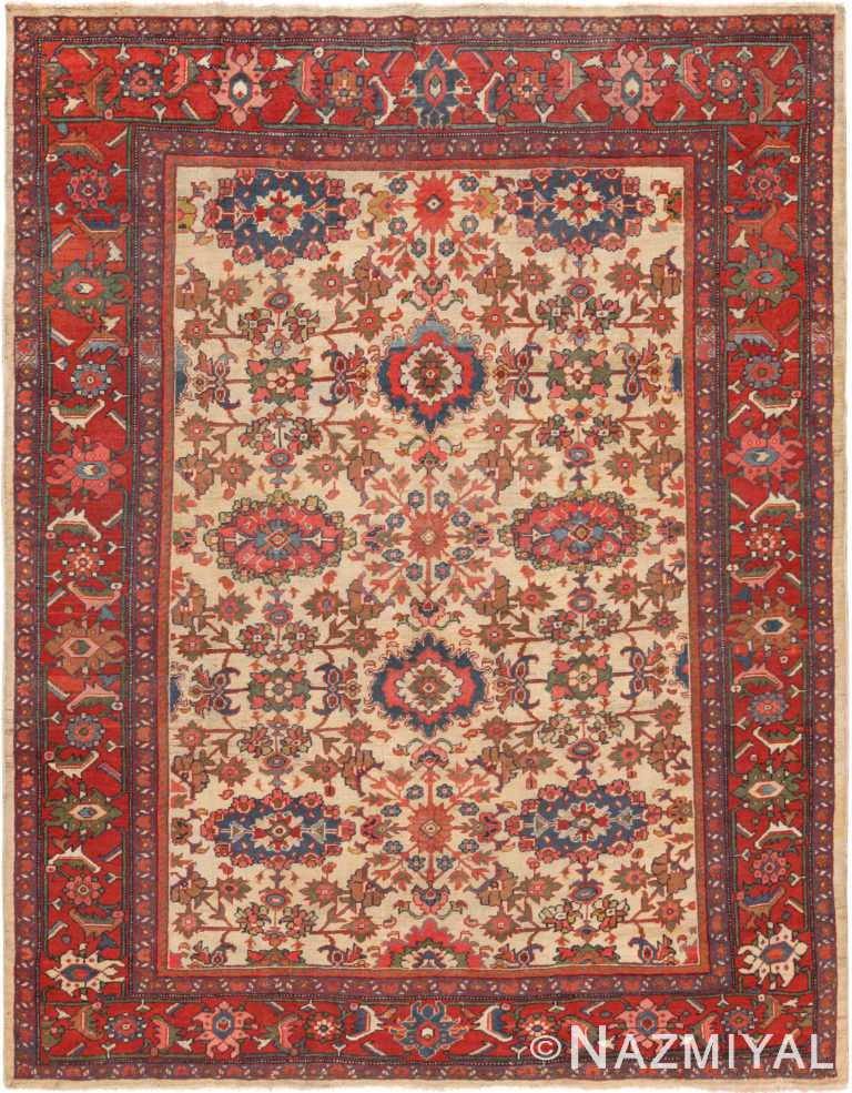 Antique Persian Sultanabad Rug 71124 by Nazmiyal Antique Rugs