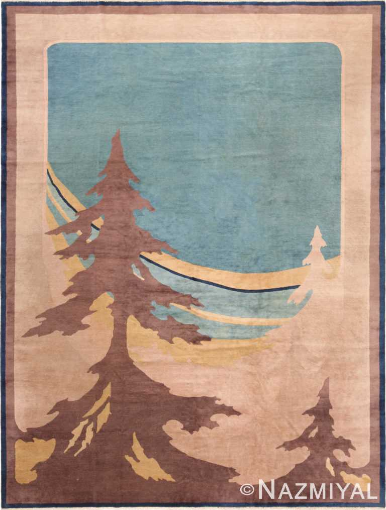 Antique Room Size Art Deco Chinese Rug 71127 by Nazmiyal Antique Rugs