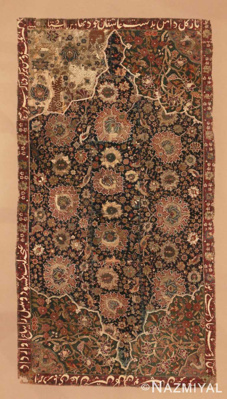 Antique 16th Century Persian Safavid Salting Rug 48639 by Nazmiyal Antique Rugs