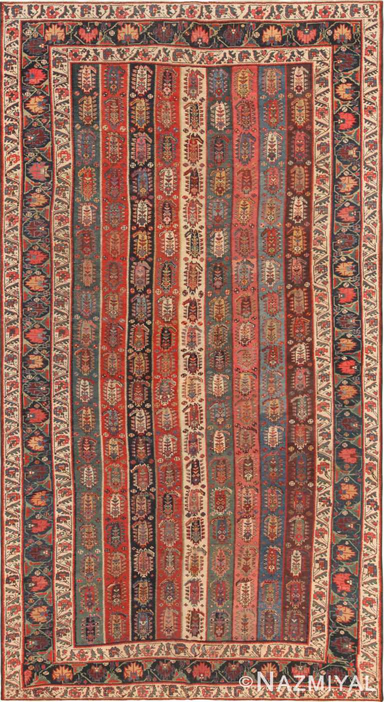 Tribal Antique North West Persian Rug 71139 by Nazmiyal Antique Rugs