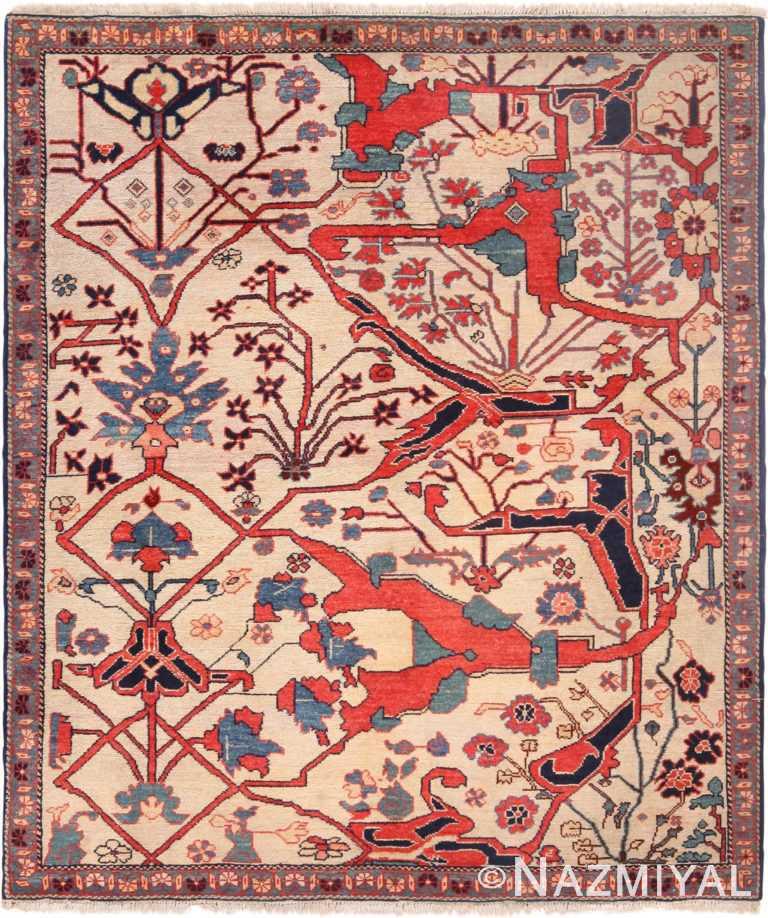 Vintage Turkish Bidjar Design Wagireh Sampler Rug 71105 by Nazmiyal Antique Rugs