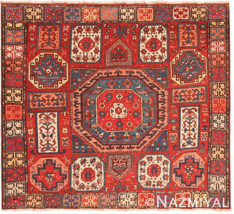 Eyecatching Antique Turkish Konya Rug 71151 by Nazmiyal Antique Rugs