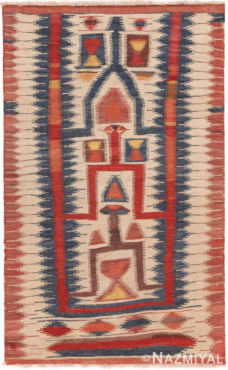 Grand Antique Turkish Karapinar Kilim 71148 by Nazmiyal Antique Rugs