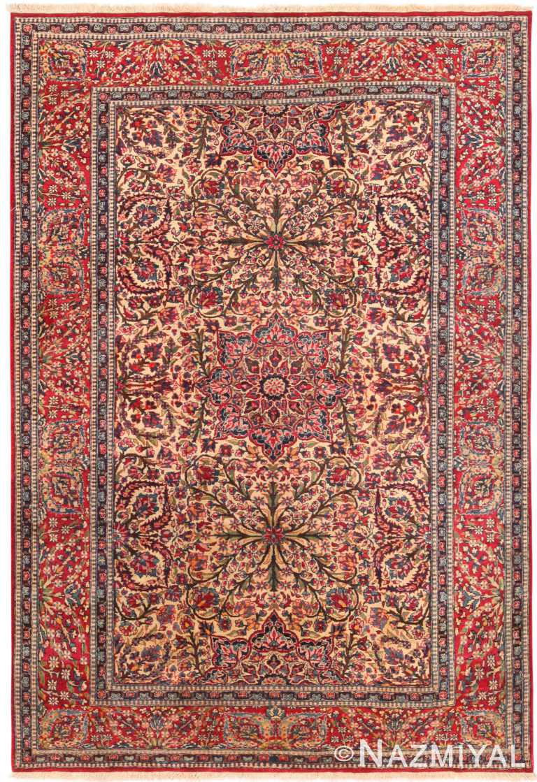 Magnificent Antique Persian Isfahan Rug 71118 by Nazmiyal Antique Rugs