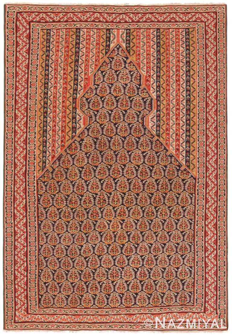 Majestic Antique Persian Senneh Kilim Prayer Rug 71143 by Nazmiyal Antique Rugs