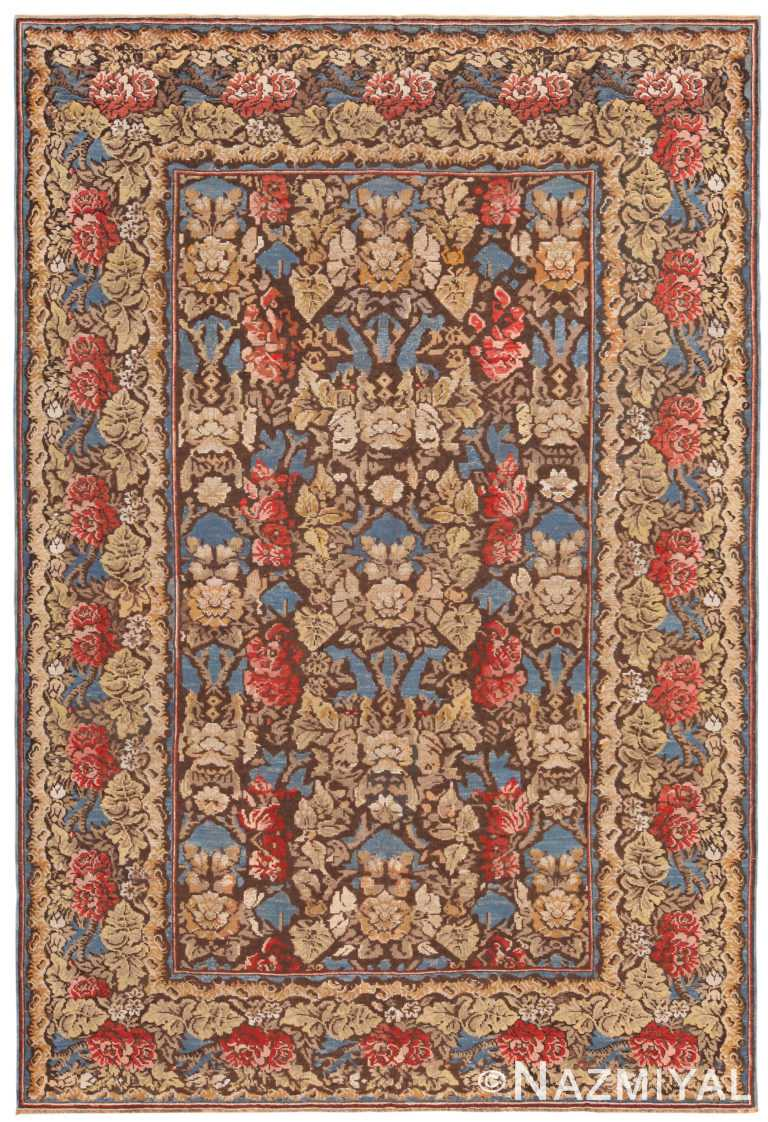 Majestic Antique Ukrainian Floral Rug 71152 by Nazmiyal Antique Rugs